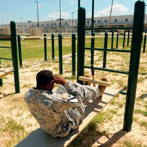 Military Adjustable Sit-Up Bench