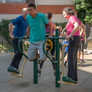 4-Person Pendulum, Abs, & Dips Station