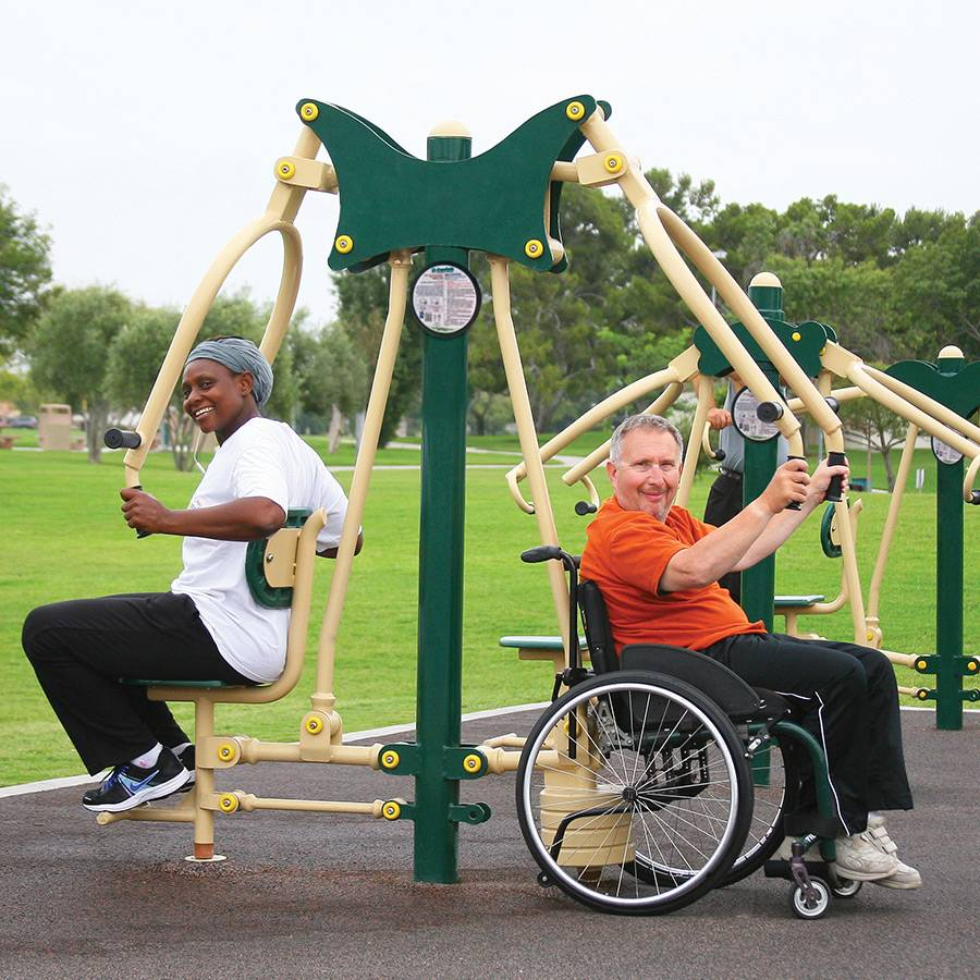wheelchair accessible chest press