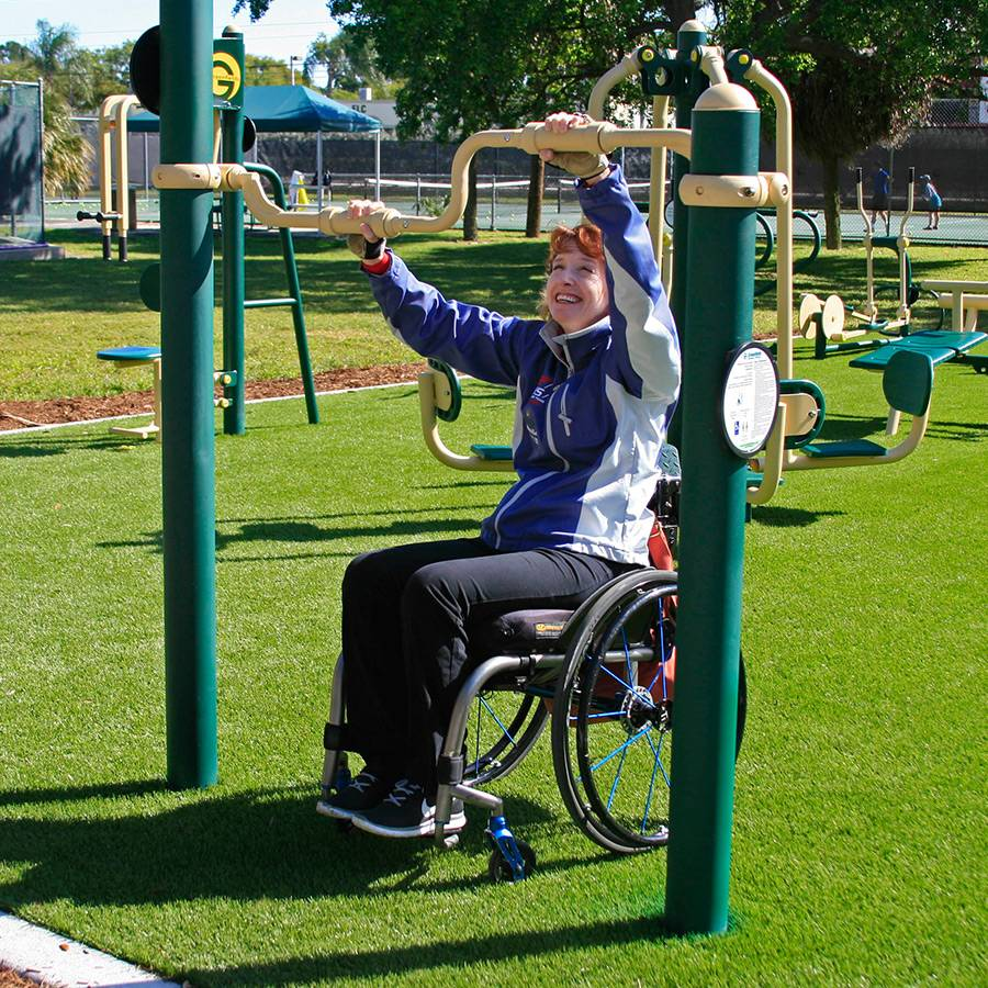 Wheelchair accessible hand cycle greenfields outdoor fitness