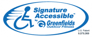 signature accessible logo with patent